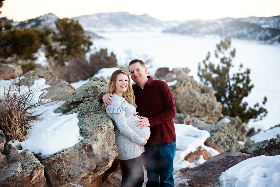 colorado mountain maternity session